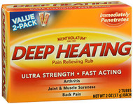 Mentholatum Deep Heating Pain Relieving Rub Extra Strength - 2 oz