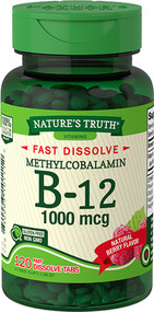 Nature's Truth Sublingual Methylcobalamin B-12 1000 mcg Fast Dissolve Tabs Natural Berry Flavor - 120 ct