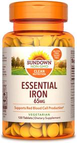 Sundown Naturals Iron 65 mg Tablets - 120 ct