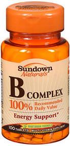 Sundown Naturals B Complex Tablets - 100 ct