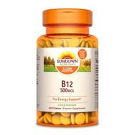 Sundown Naturals High Potency B12 500 mcg Tablets - 200 ct