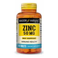 Mason Natural Zinc 50 mg Dietary Supplement - 100 Tablets