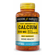 Mason Natural Liquid Calcium 600 mg with Vitamin D3  Softgels - 60ct