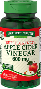 Nature's Truth Apple Cider Vinegar 650 mg Quick Release Capsules Triple Strength - 60 ct