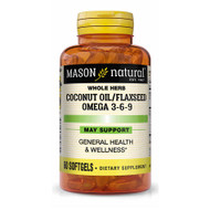 Mason Natural Coconut Oil/Flax Seed Omega 3-6-9 Softgels - 60 Softgels