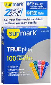 Sunmark Sterile Lancets 33 G - 100 ct