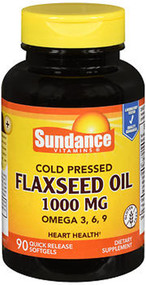 Sundance Vitamins Flaxseed Oil 1000 mg - 90 Softgels