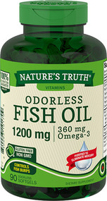 Nature's Truth Odorless Lemon Flavor Fish Oil 1200 mg 360 mg Omega-3 Softgels - 90 ct