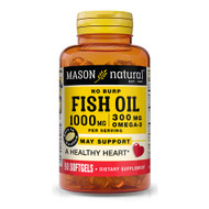 Mason Natural No-Burp Omega-3 Fish Oil 1000 mg  - 90 Softgels