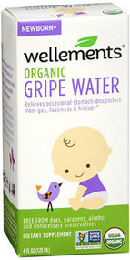 Wellements Gripe Water For Colic - 4 oz