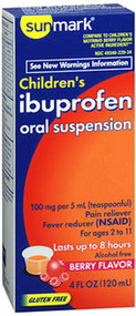 Sunmark Children's Ibuprofen Oral Suspension Berry - 4 oz