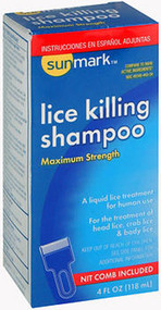 Sunmark Lice Killing Shampoo Maximum Strength - 4 oz