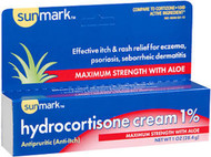 Sunmark Hydrocortisone Cream 1% Maximum Strength With Aloe - 1 oz