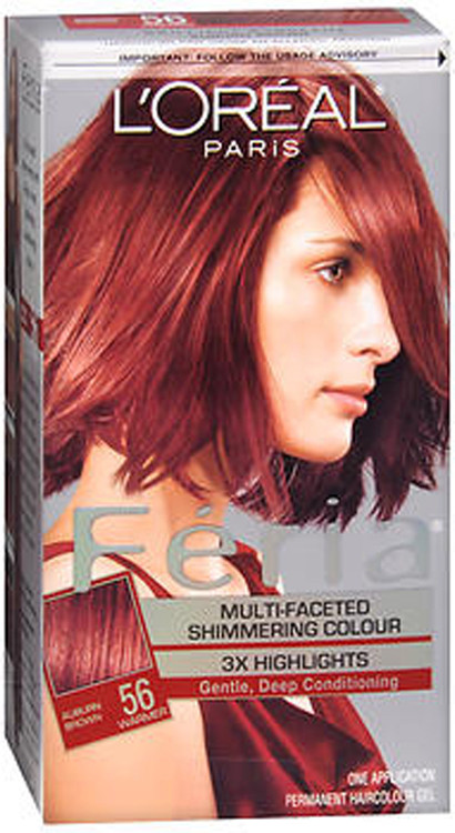 L'Oreal Feria 56 Brilliant Bordeaux (Auburn Brown) (Warmer)