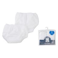 Pull-On Plastic Peva Pants-2 Pack Training - White, 0-3 mos.