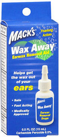 Mack's Wax Away Earwax Removal Aid - 0.5 oz