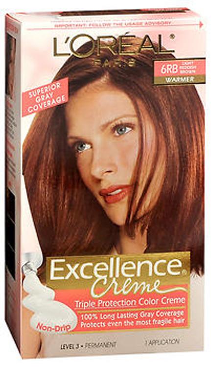L Oreal Excellence Creme 6rb Light Reddish Brown Warmer