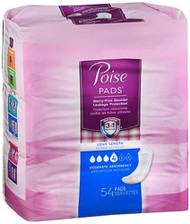 Poise Pads Long Length Moderate Absorbency - 2 Packs of 54