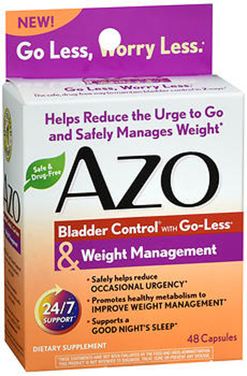 Azo Bladder Control >> Azo Bladder Control With Go Less Weight Management Dietary