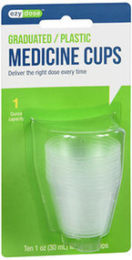 Ezy Dose 1 oz Plastic Graduated Medicine Cups  - 10 ea.