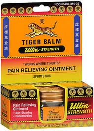 Tiger Balm Ultra Strength Pain Relieving Ointment - 0.63oz