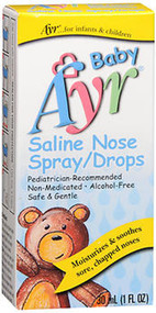 Ayr Baby Saline Nose Spray/Drops - 1 oz