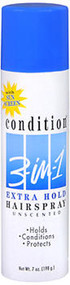 Condition 3-In-1 Hairspray Aerosol Extra Hold Unscented - 7 oz