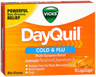 Vicks DayQuil Cold Flu Multi-Symptom Relief LiquiCaps - 16 Ct.