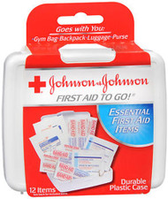 Johnson & Johnson Red Cross First Aid To Go Kit