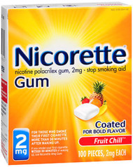 Nicorette Gum 2 mg Fruit Chill - 100 ct