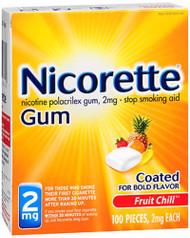 Nicorette Gum 2 mg Fruit Chill - 100 ct