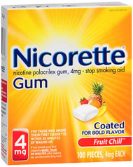 Nicorette Gum 4 mg Fruit Chill - 100 ct