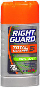 Right Guard Total Defense Power Stripe Anti-Perspirant Deodorant Invisible Solid Fresh Blast - 2.6 oz