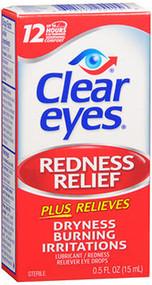 Clear Eyes Redness Relief Lubricant Eye Drops - 0.5 fl oz