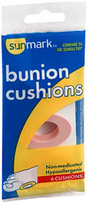 Sunmark Bunion Cushions - 6 ct