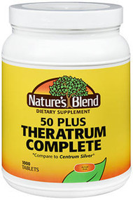 Nature's Blend Theratrum Complete 50 Plus - 1000 Tablets