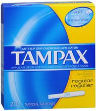 Tampax Flushable Applicator Regular Absorbency Tampons - 20 ea.