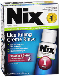 Nix Lice Killing Creme Rinse Treatment - 2 oz