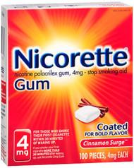 Nicorette Gum 4mg Cinnamon Surge - 100 ct