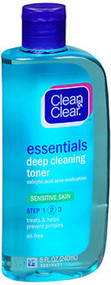 Clean & Clear Essentials Deep Cleaning Toner Sensitive Skin - 8 oz