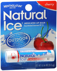 Mentholatum Natural Ice Medicated Lip Balm Cherry Flavor SPF 15 - 12 Ct