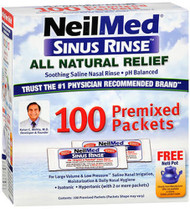 NeilMed Sinus Rinse Premixed Packets, 100 ct
