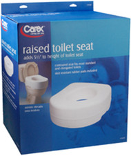 Carex Raised Toilet Seat, 5 1/2""