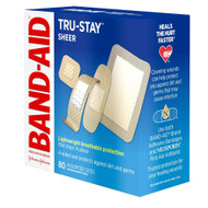 Band-Aid Sheer Strips Bandages Assorted Sizes - 80 ea