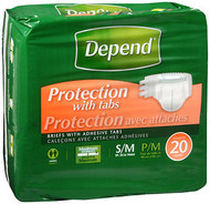 Depend Fitted Brief Small/Medium 3 pks of 20