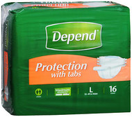 Depend Fitted Briefs Large - 3 pks of 16
