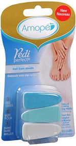 Amope Pedi Perfect, Nail Care Heads - 3 each