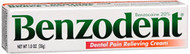 Benzodent Dental Pain Relieving Cream - 1 oz