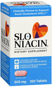 Slo-Niacin 500 mg Dietary Supplement Tablets - 100 ct
