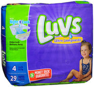 Luvs Ultra Leakguards Diapers Size 4 - 4 Packs of 29